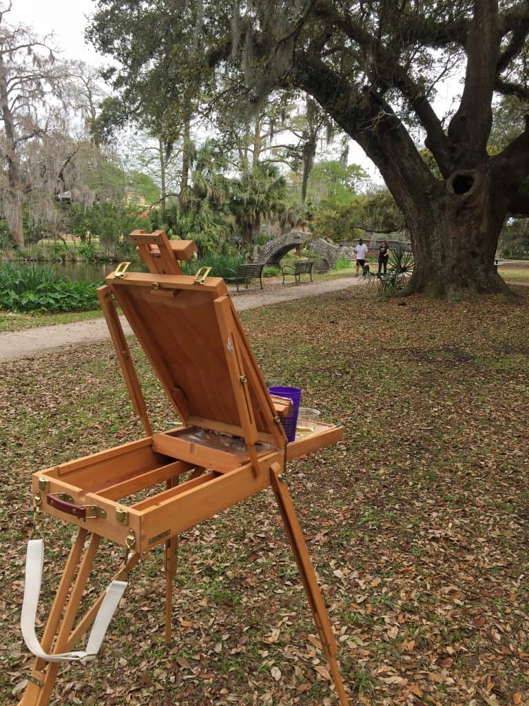 Easel by stream Paint Dat Class New Orleans