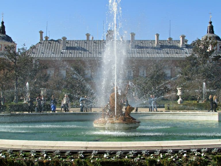 Fountain in front of Royal Palace of Aranjuez