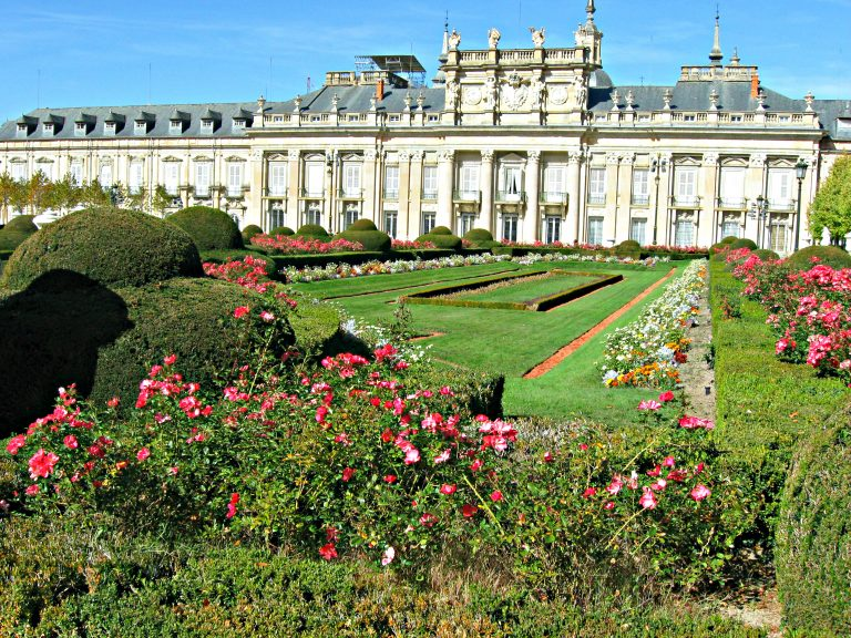 Juvarra facade and Gardens Royal Palace of La Granja