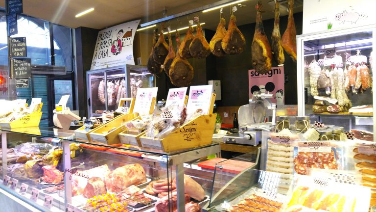 Meats on display at Mercato Centrale Firenze