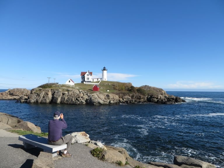 Nubble Lighthouse in York Maine at Sohier Park