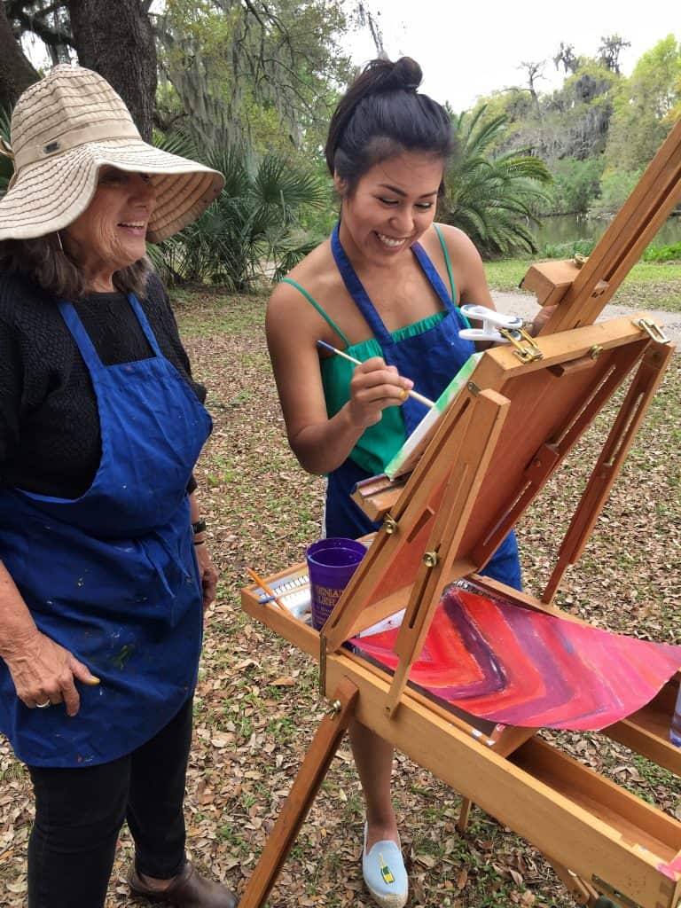 Paint Dat's Gloria Willis with Student Claudia