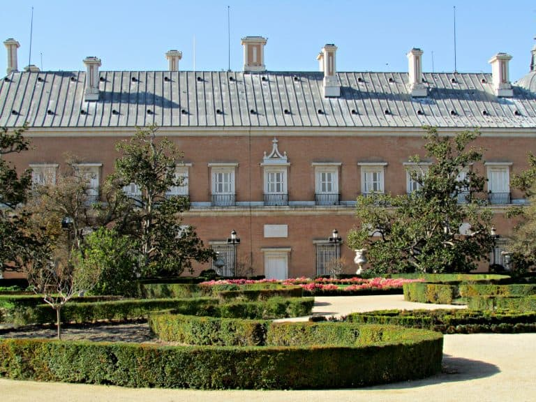 Side of the Royal Palace of Aranjuez