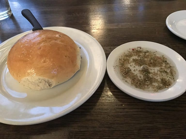 Terranova's rosemary-infused bread with dipping herbs