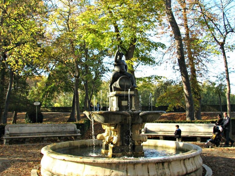 The Bacchus Fountain at Royal Palace of Aranjuez