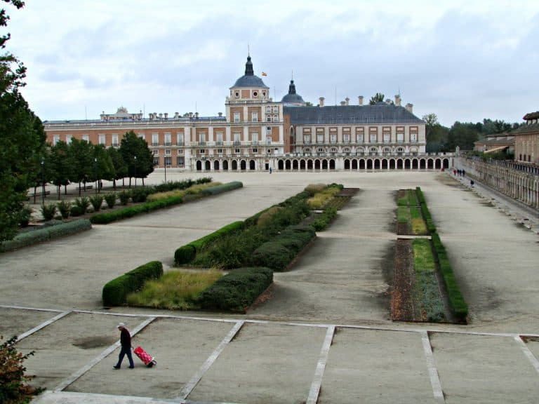 View of Royal Palace of Aranjuez from NH Hotel