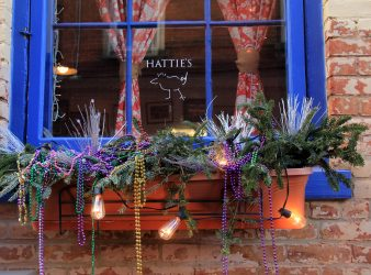 Window Box at Night Hatties(c) Restaurant