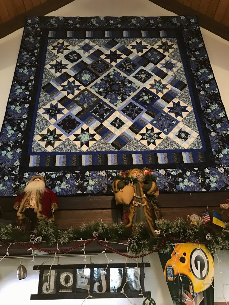 Gorgeous quilts at Joe Jo's Pizza Door County