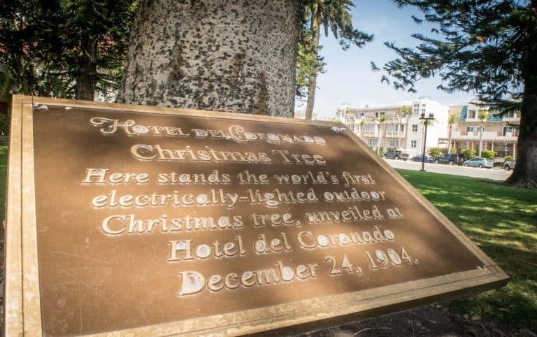 Outdoor Christmas Tree Commemoration Coronado