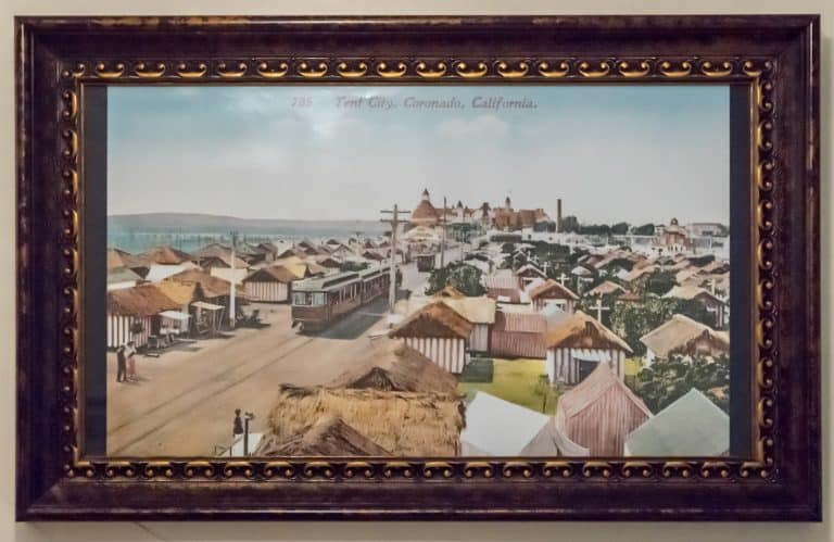 Tent City Coronado postcard view