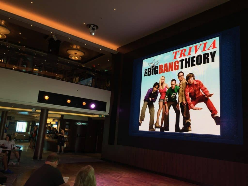Big Bang Theory Trivia on NCL Escape in Atrium