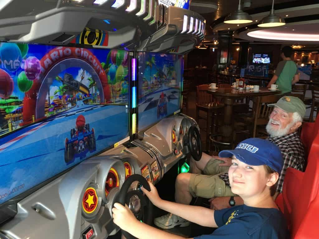 Dad and Milo Playing Mario Kart on NCL Escape