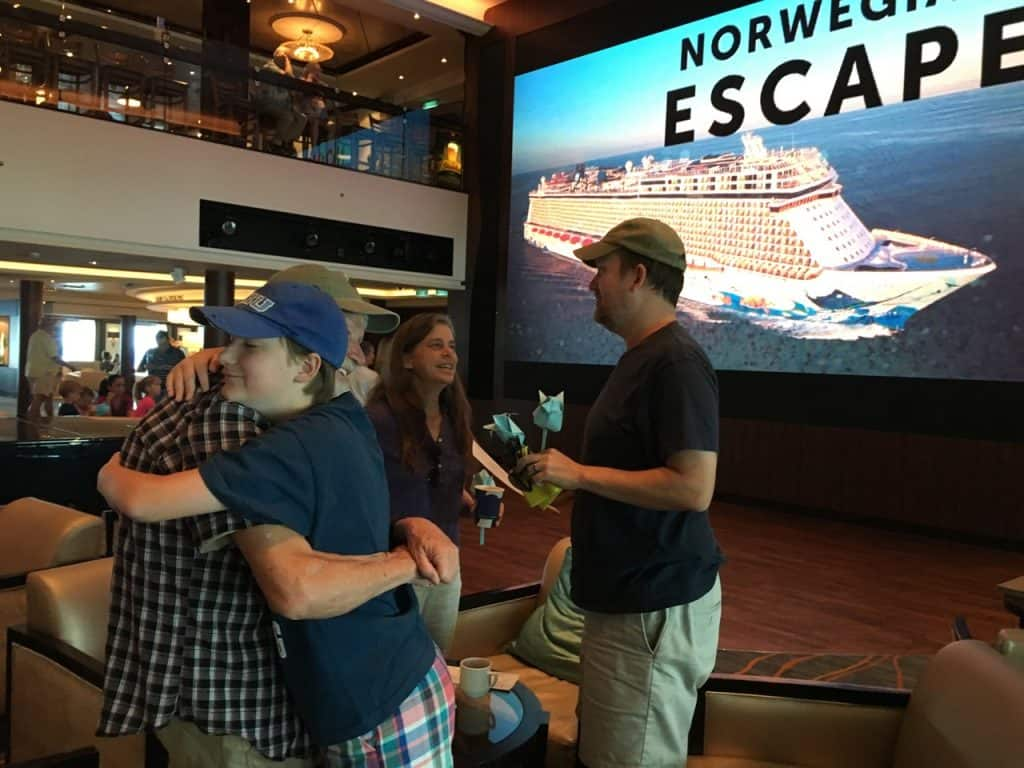 Family Hugs on NCL Escape