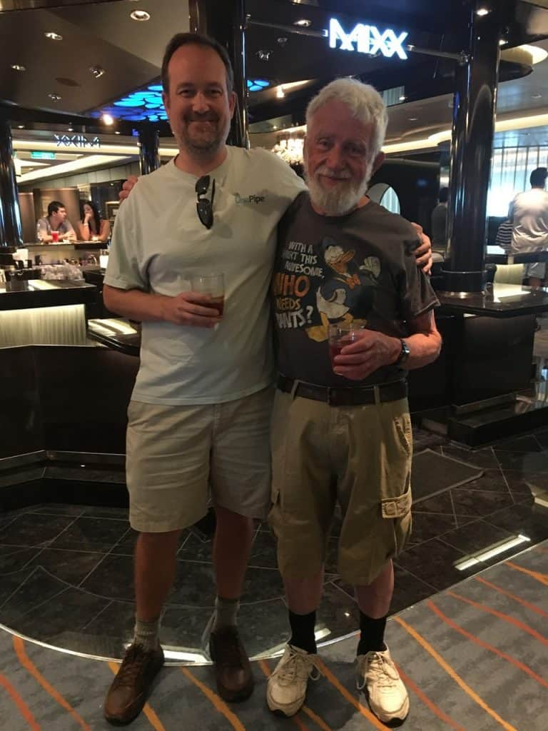 Grandpa and Jed on NCL Escape
