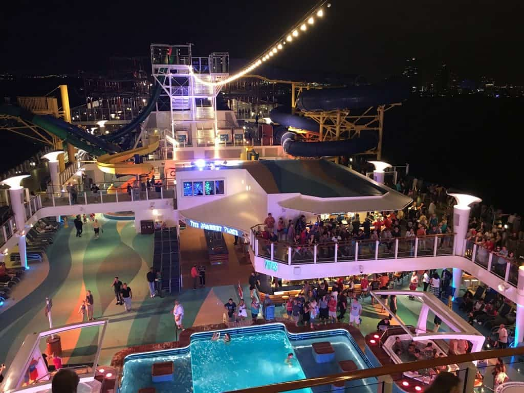 NCL Escape Top Deck at Night