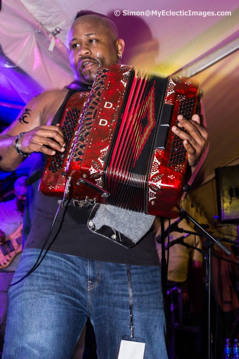 Dwayne Dopsie of the Zydeco Hellraisers on Accordian