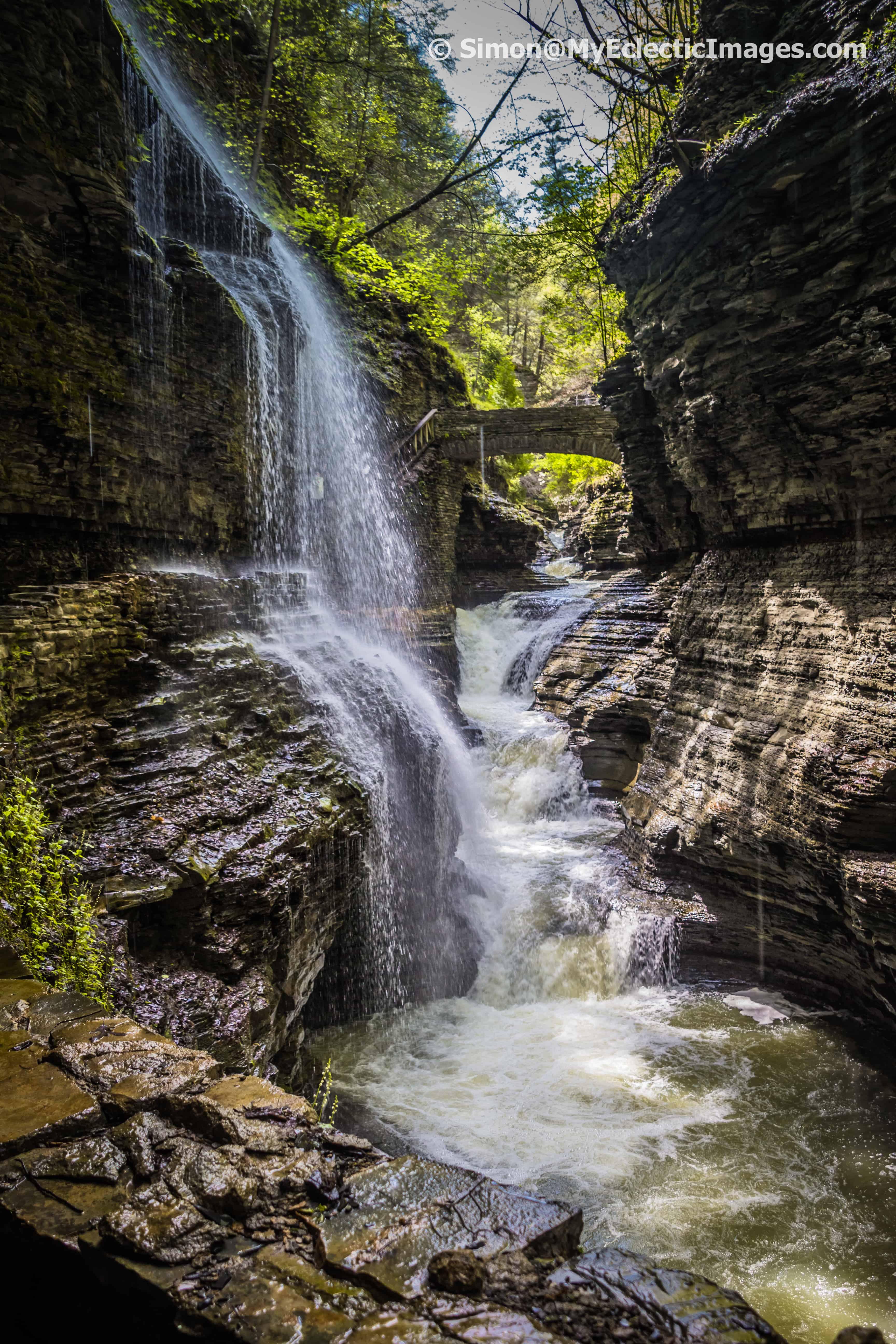 Rainbow Falls Watkins Glen State Park NY
