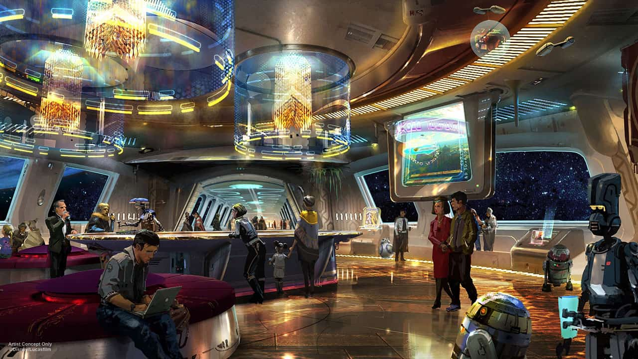 Star Wars Disney Hotel Lobby