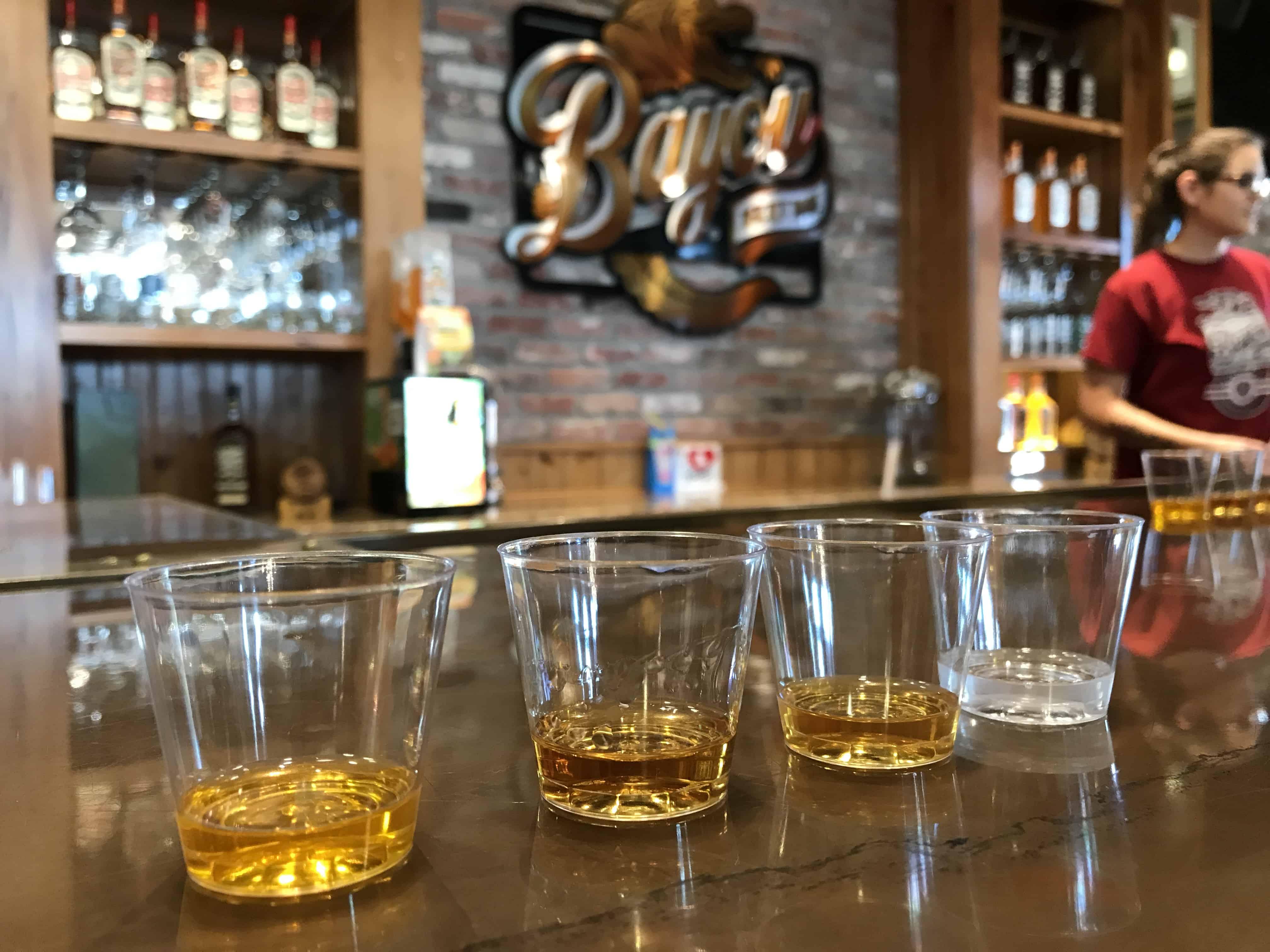 Taste Testing at Bayou Rum