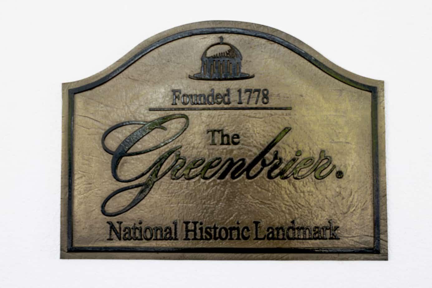 The Greenbrier National Historic Landmark