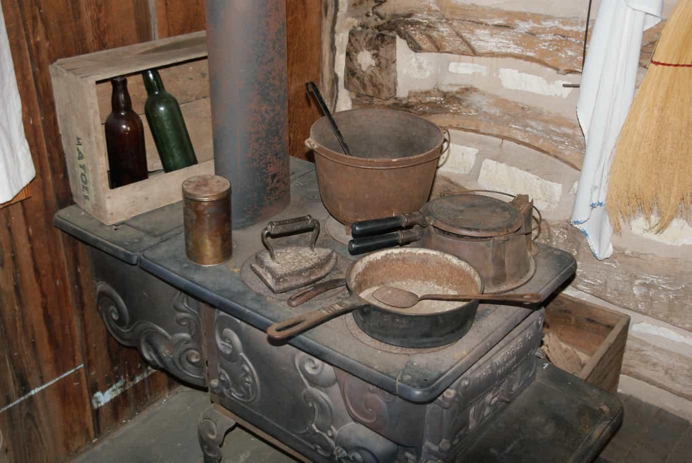 Pioneer Museum old stove pots Fredericksburg