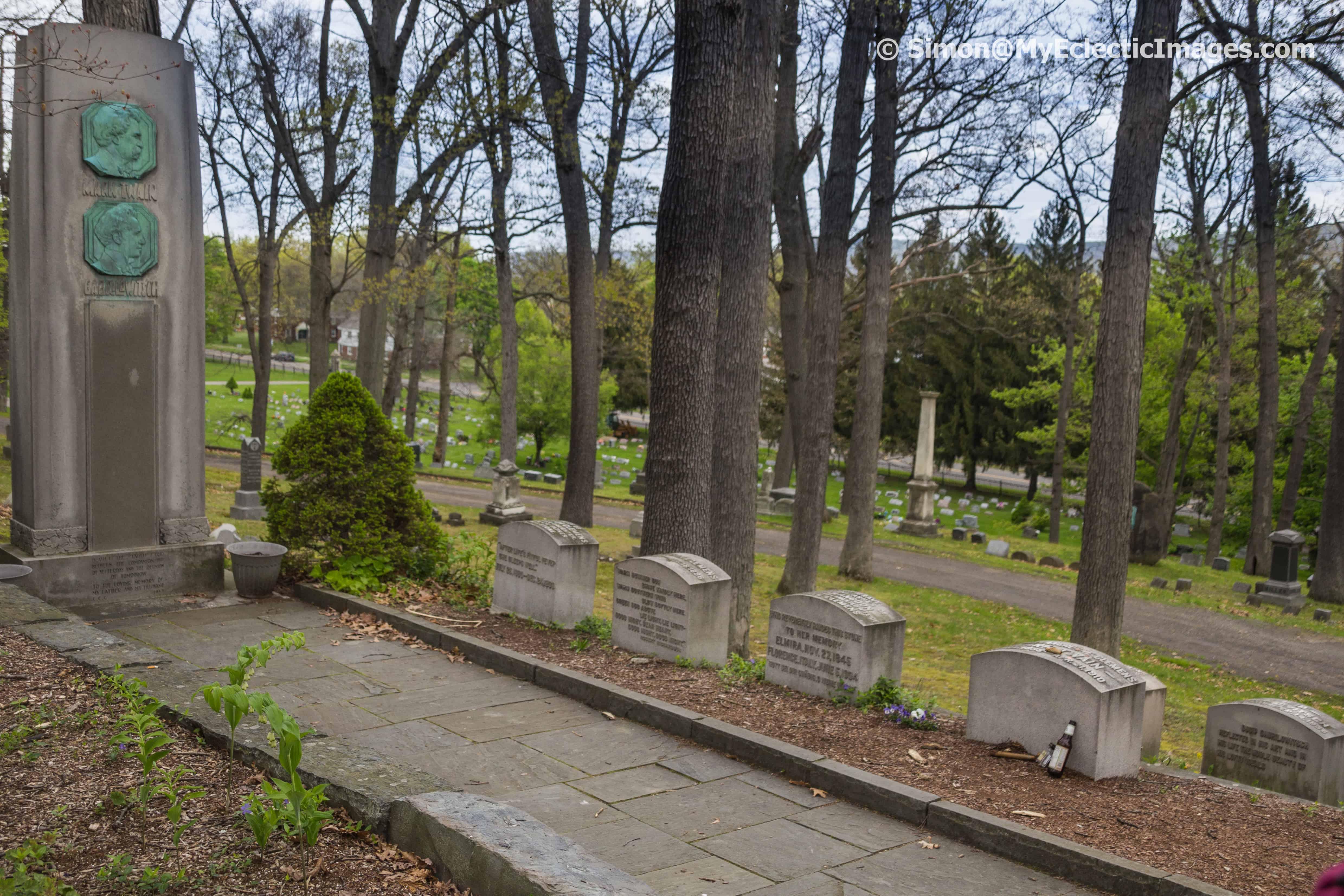 Clemens and Langdon family plots Elmira NY