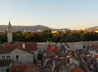Diocletian Apartments roof terrace view