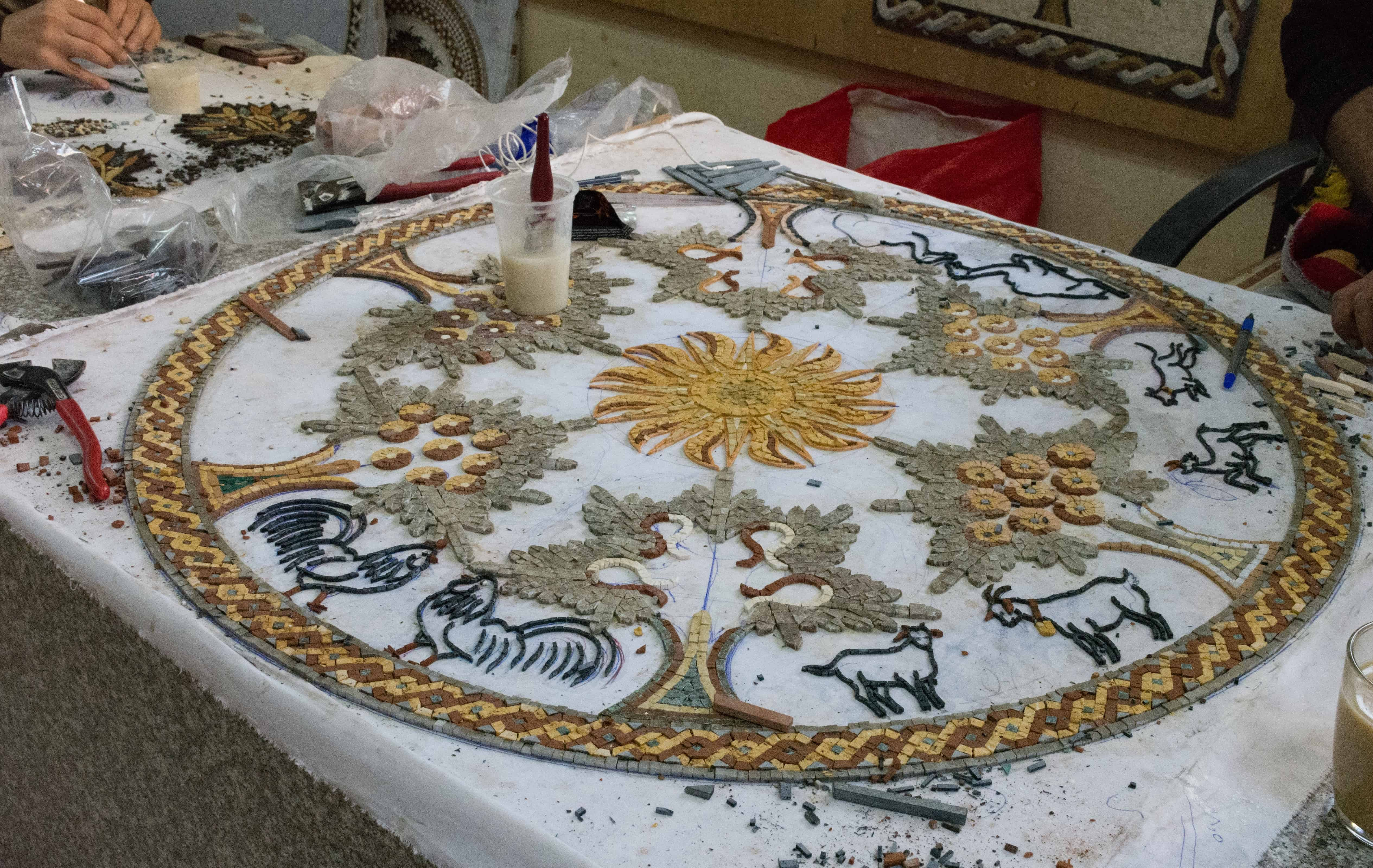 Mosaic Workshop Kingdom of Jordan