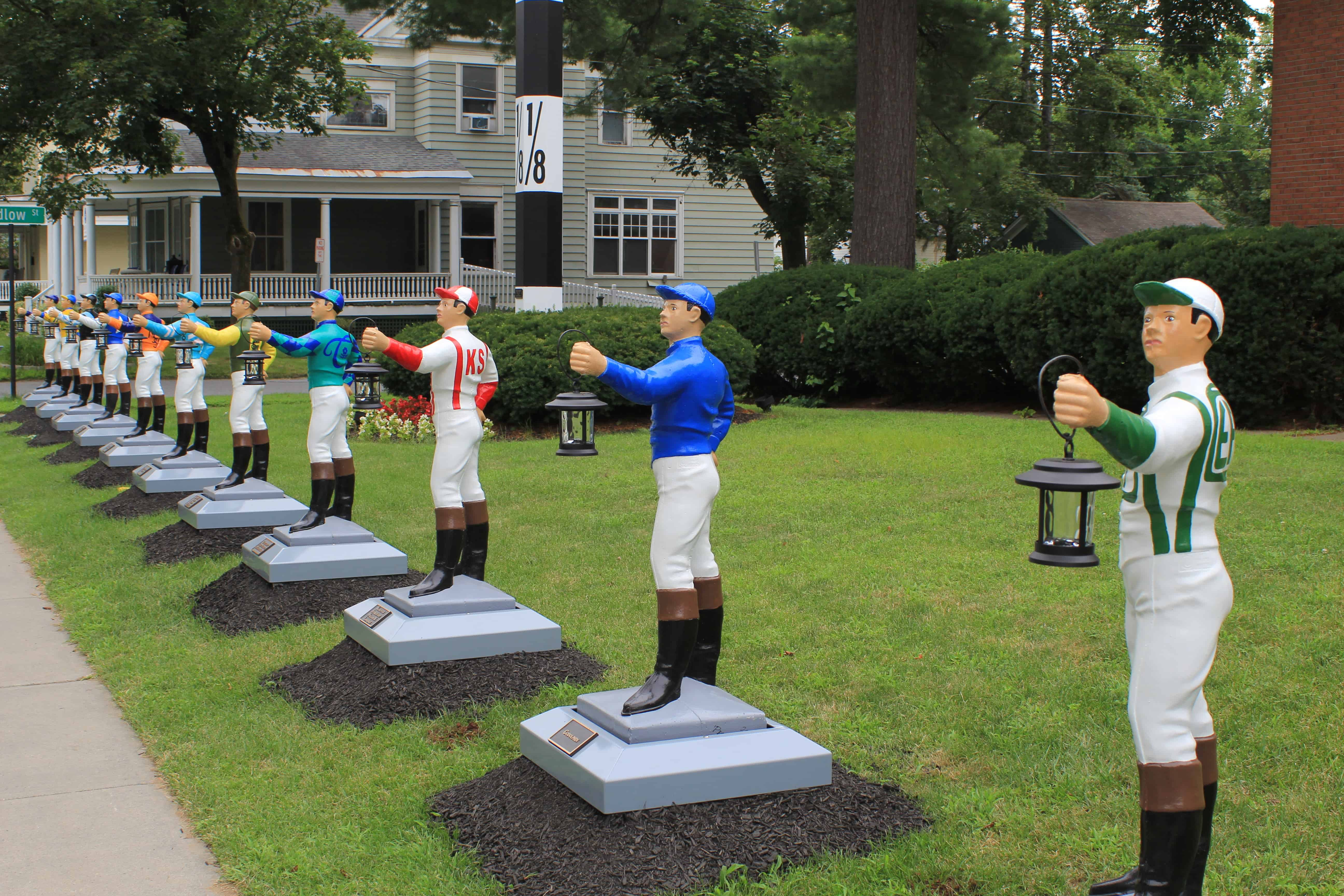 Tribute to Jockeys at Union Gables Saratoga Springs
