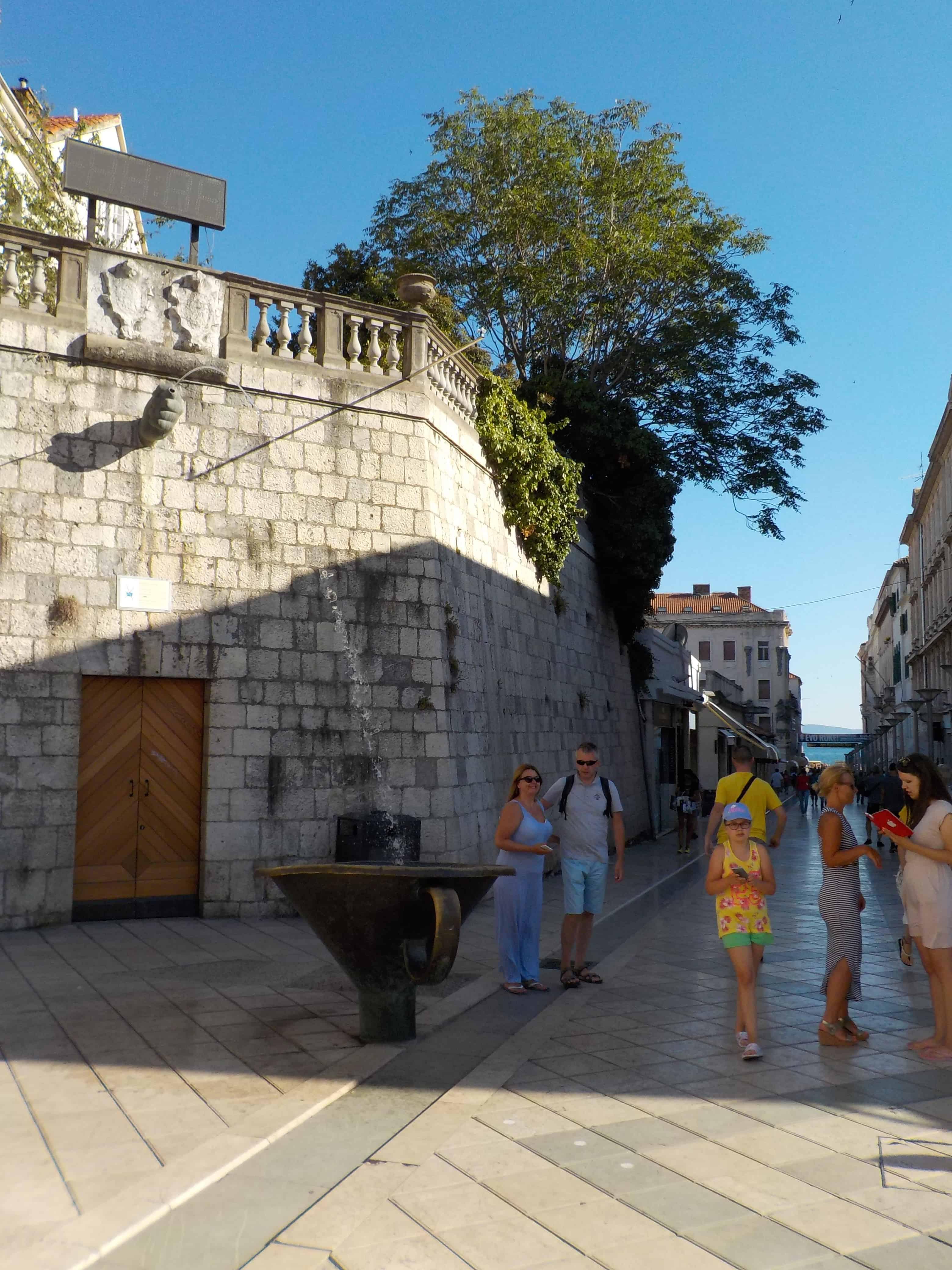 Unique Fountain in Split Croatia