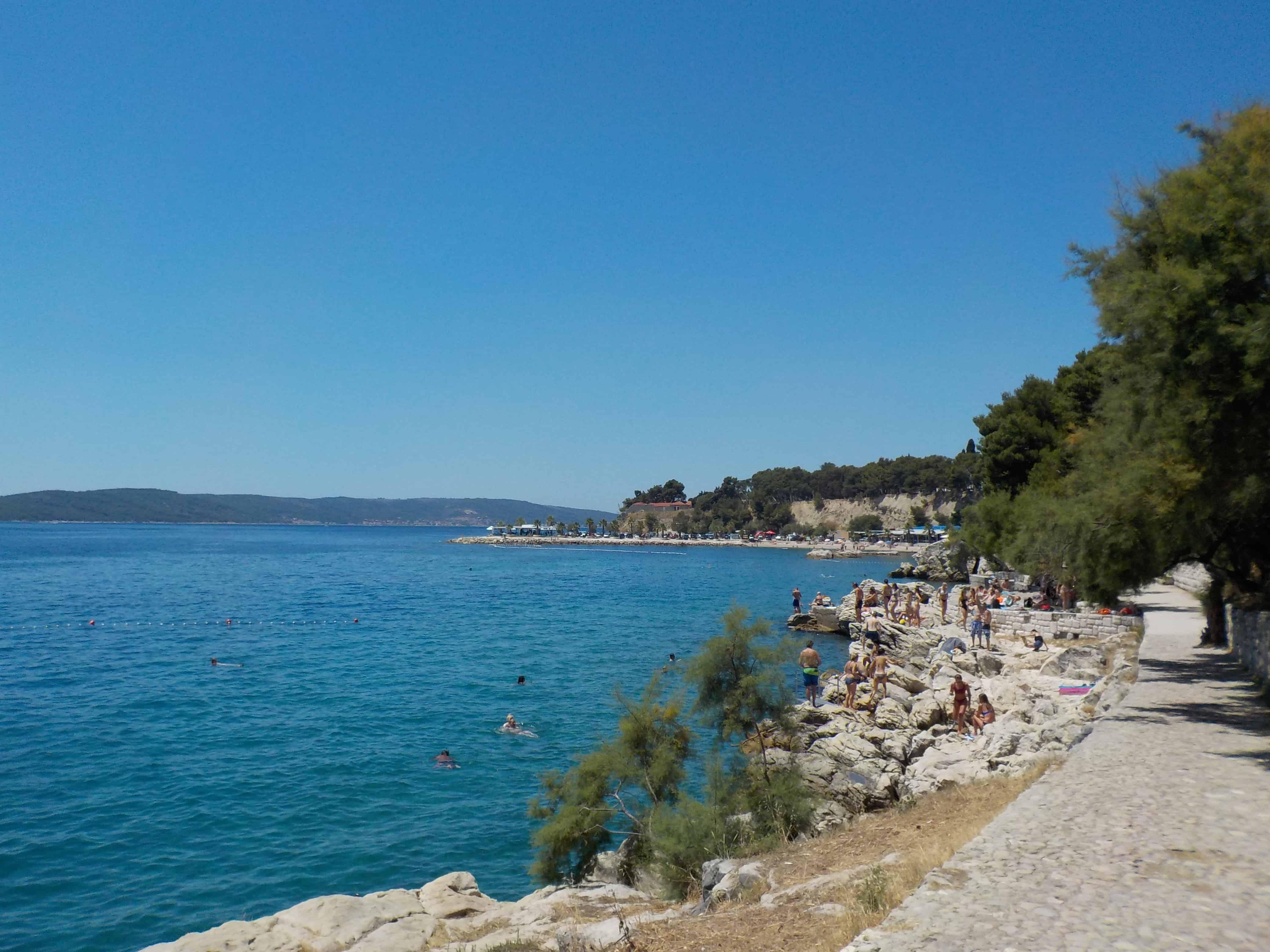 Walking to the Sea in Split Croatia