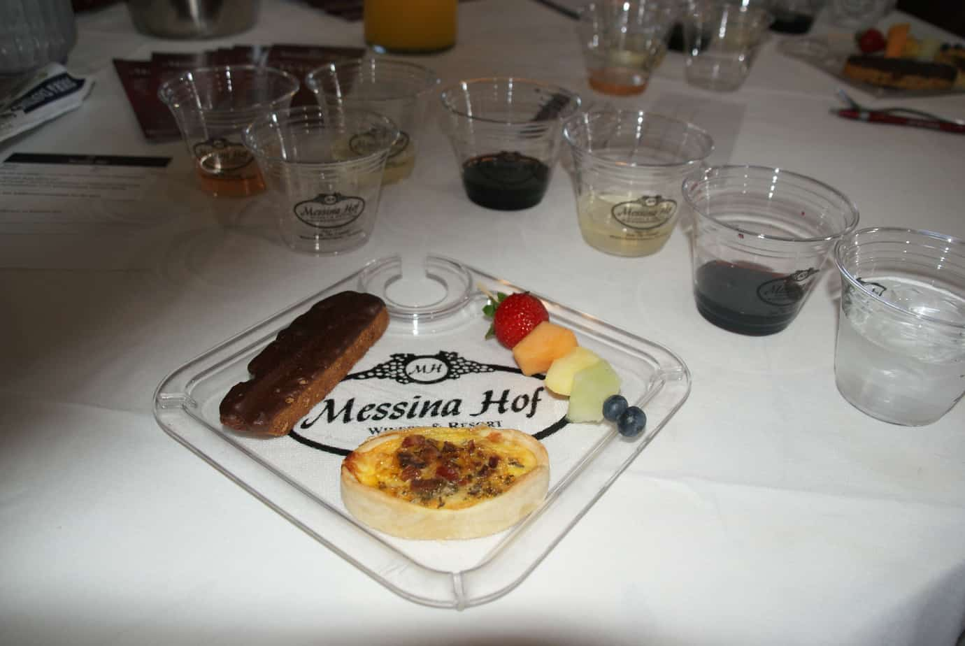Wine pairing at Messina Hof