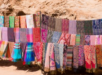 Pashminas at Petra Shopping in Jordan