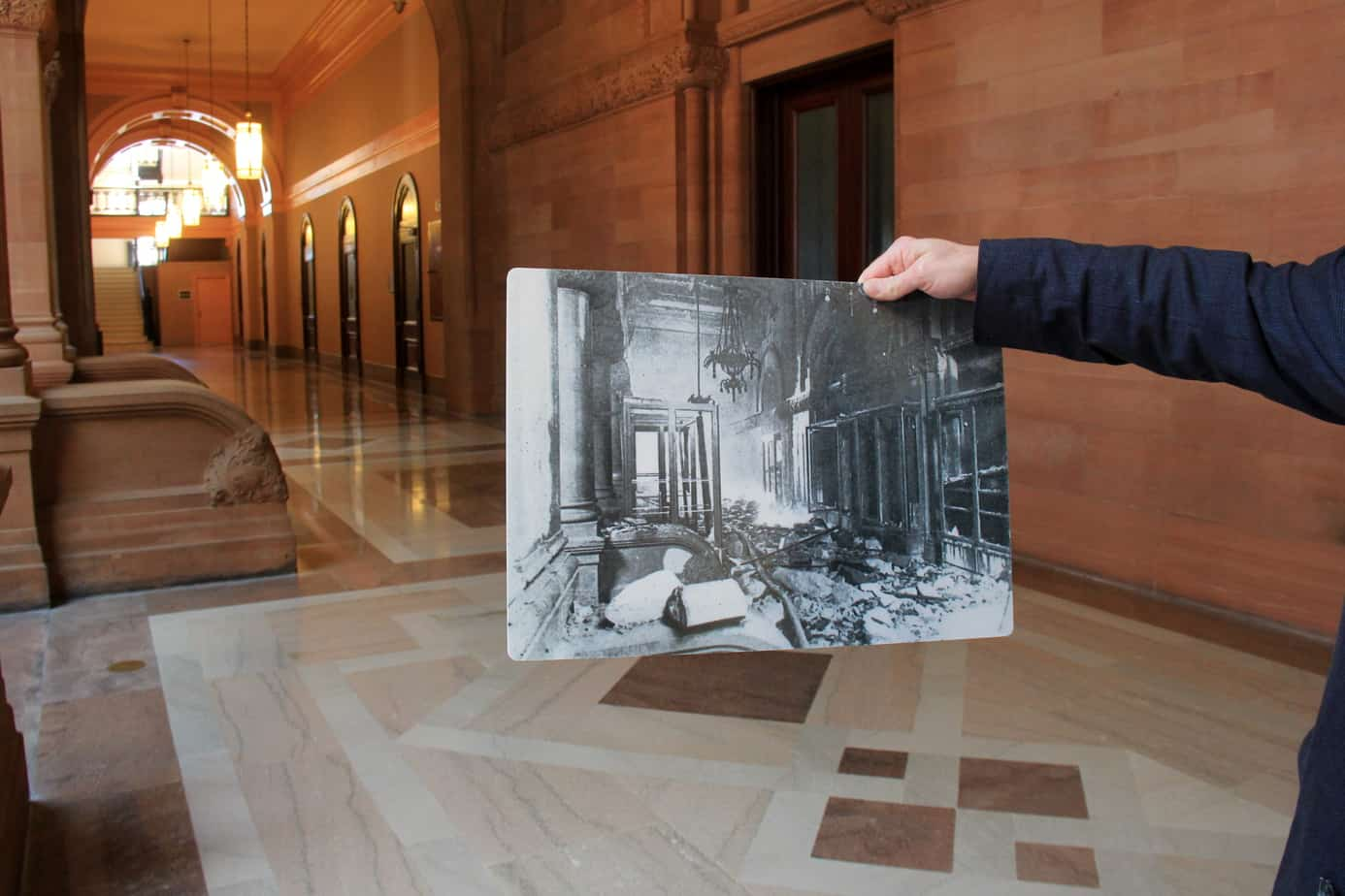 Before and After Fire Restoration New York State Capitol