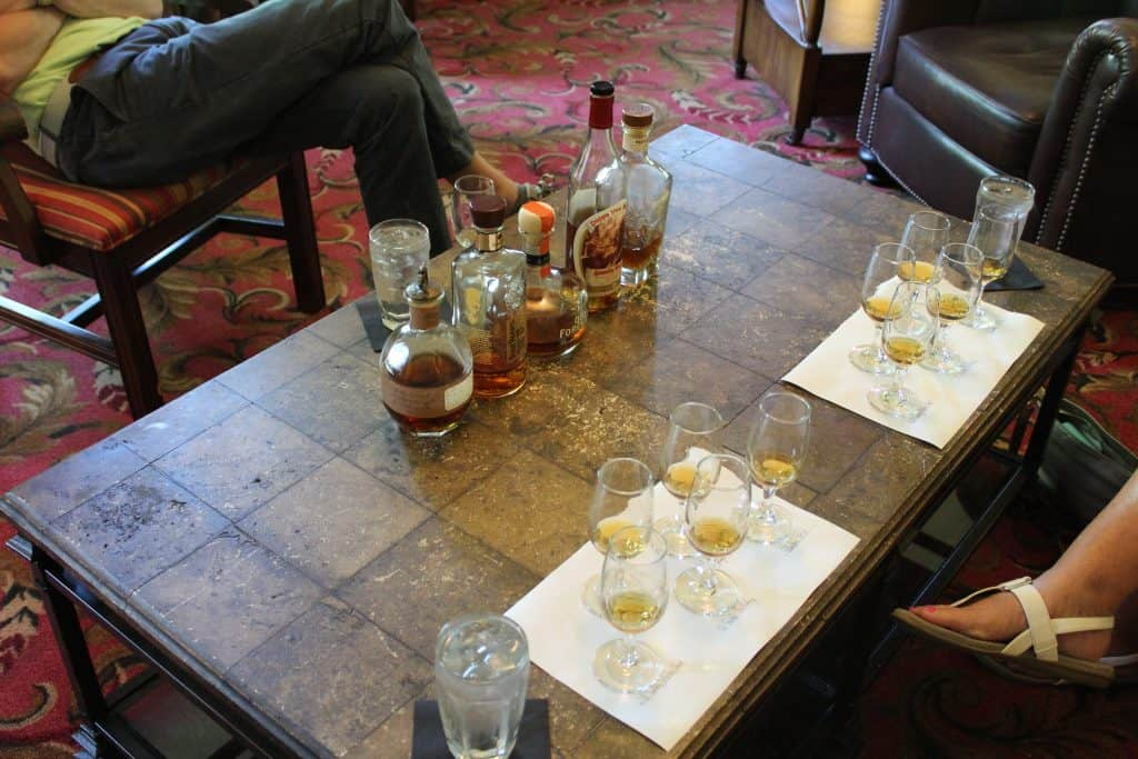 Beaumont Inn Bourbon Tasting