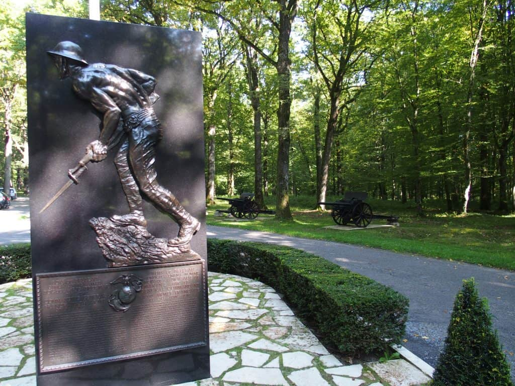 'Iron Mike' - Monument to the US Marines at Bois Belleau