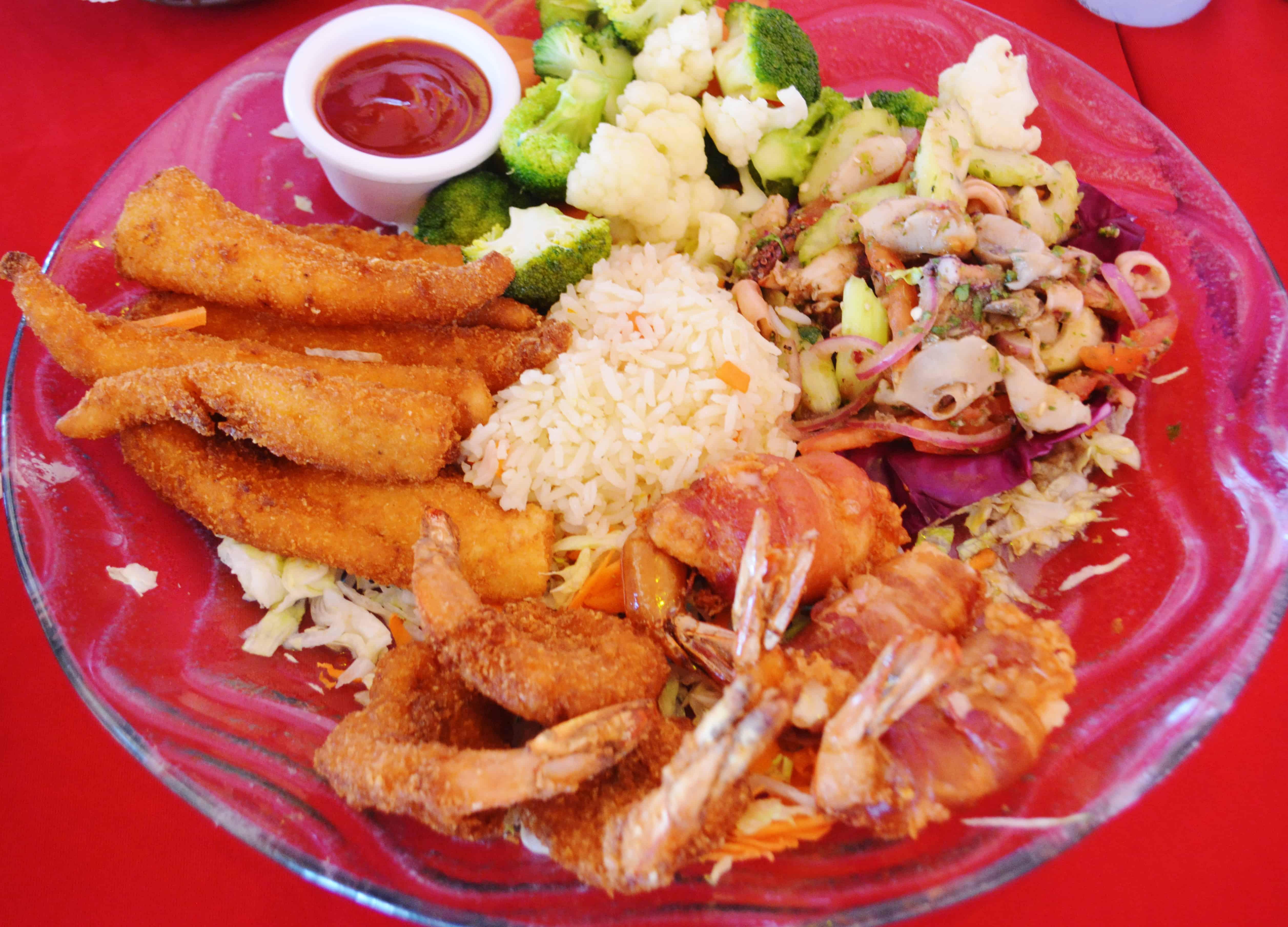 Seafood Platter at La Casa del Capitan