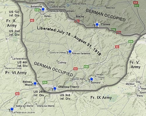 Map of Marne