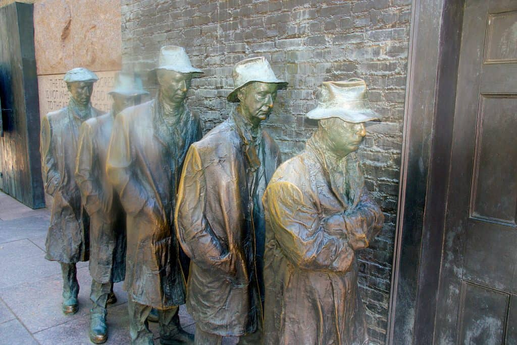 FDR Men in Bread Line