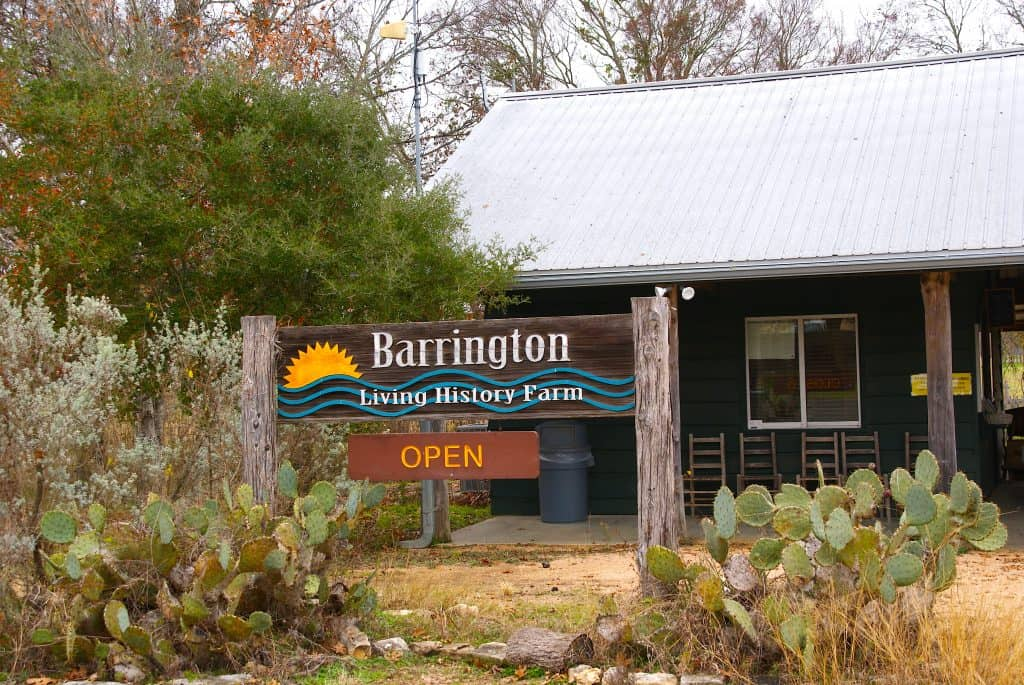 Barrington Living History Farm sign