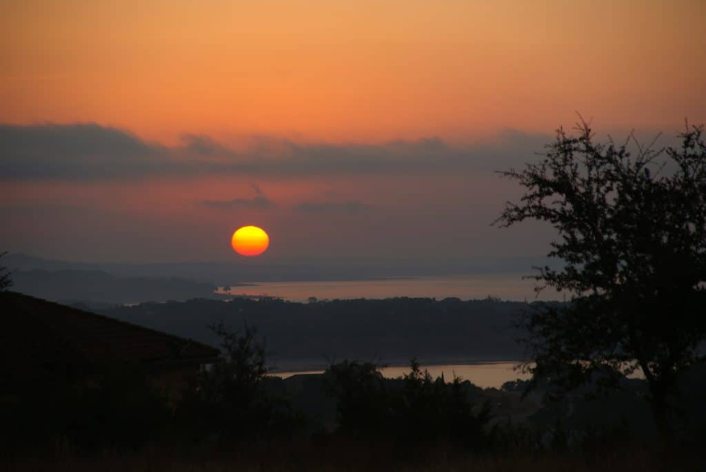 Sunrise at Canyon Lake