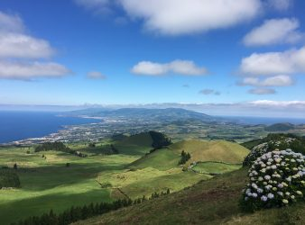 The island of Sao Miguel, Azores