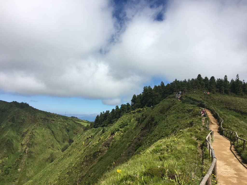 Trail at Miradouro da Boca do Inferno, Sao Miguel, Azores