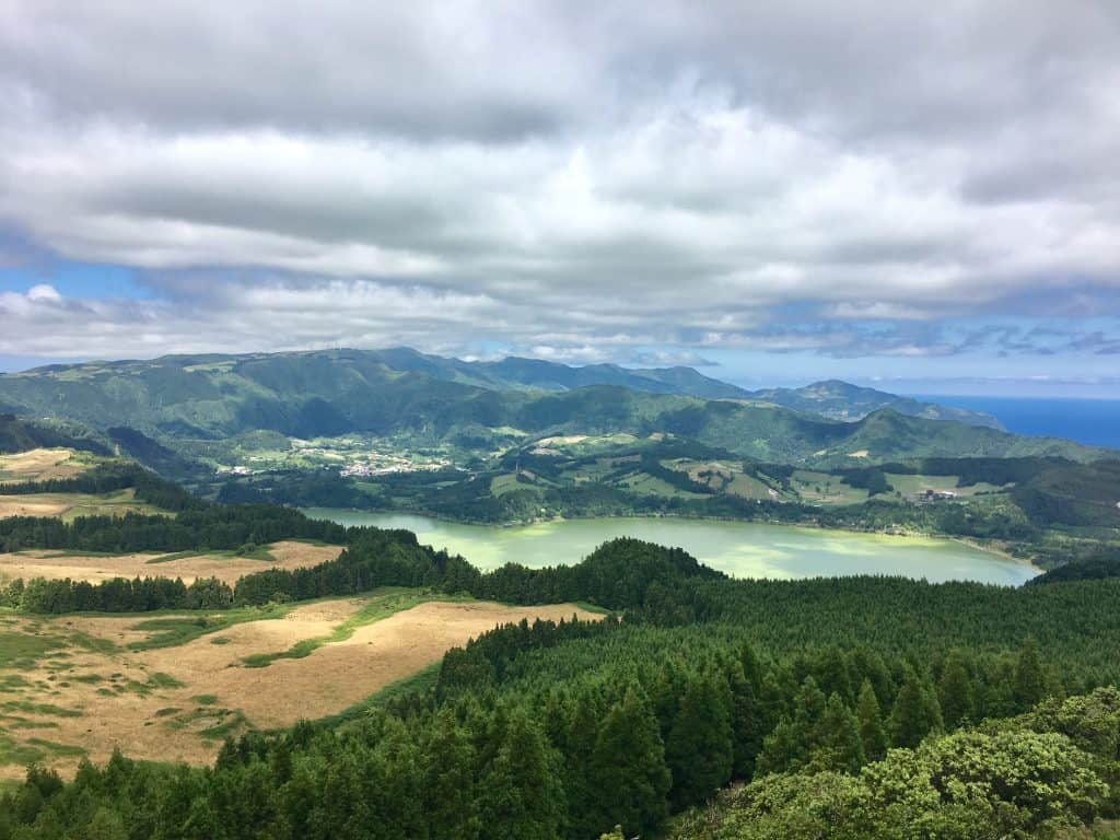 View of Lake Furnas, Sao Miguel, Azores