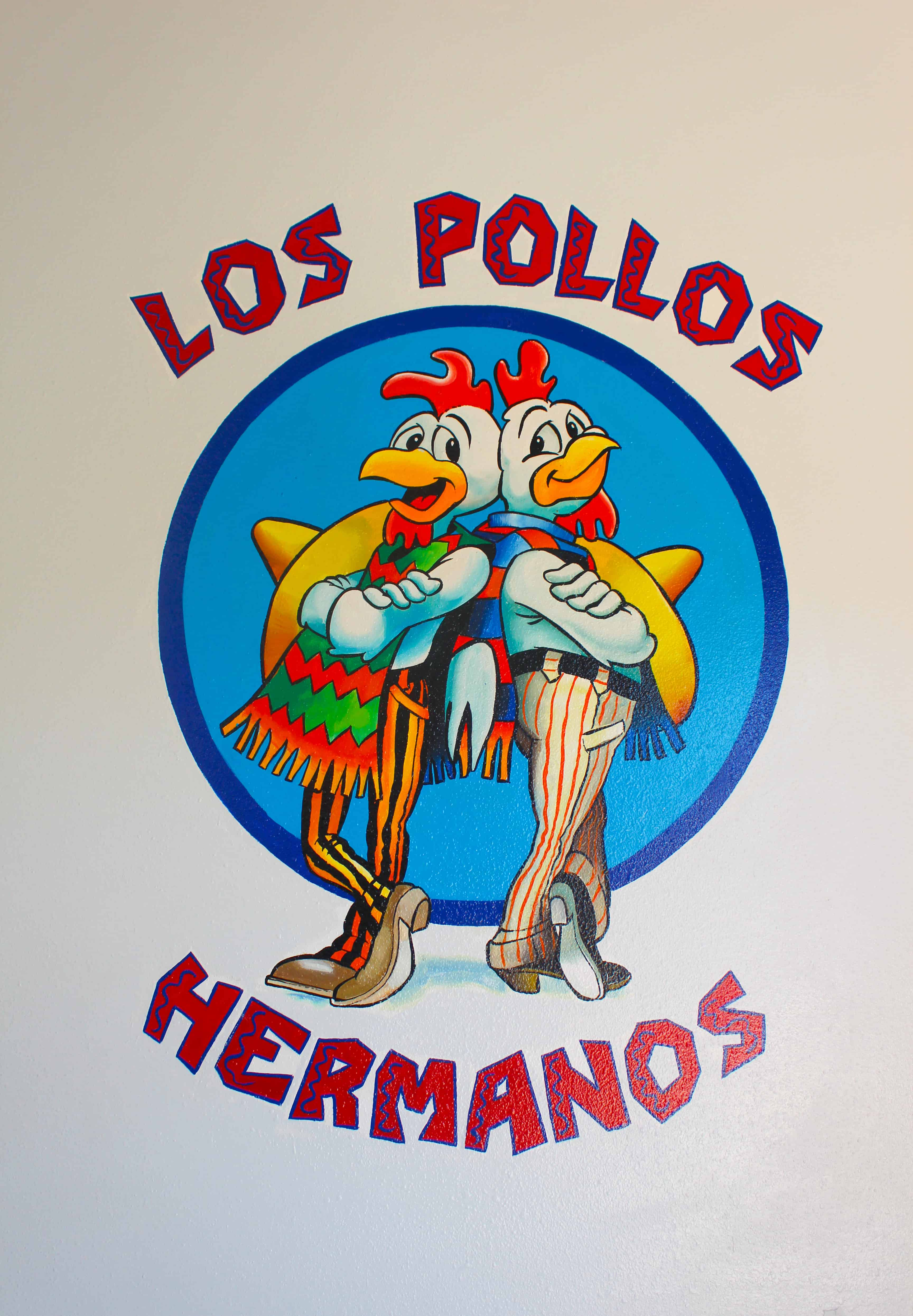Los Pollos Hermanos Logo on Restaurant Entrance Breaking Bad