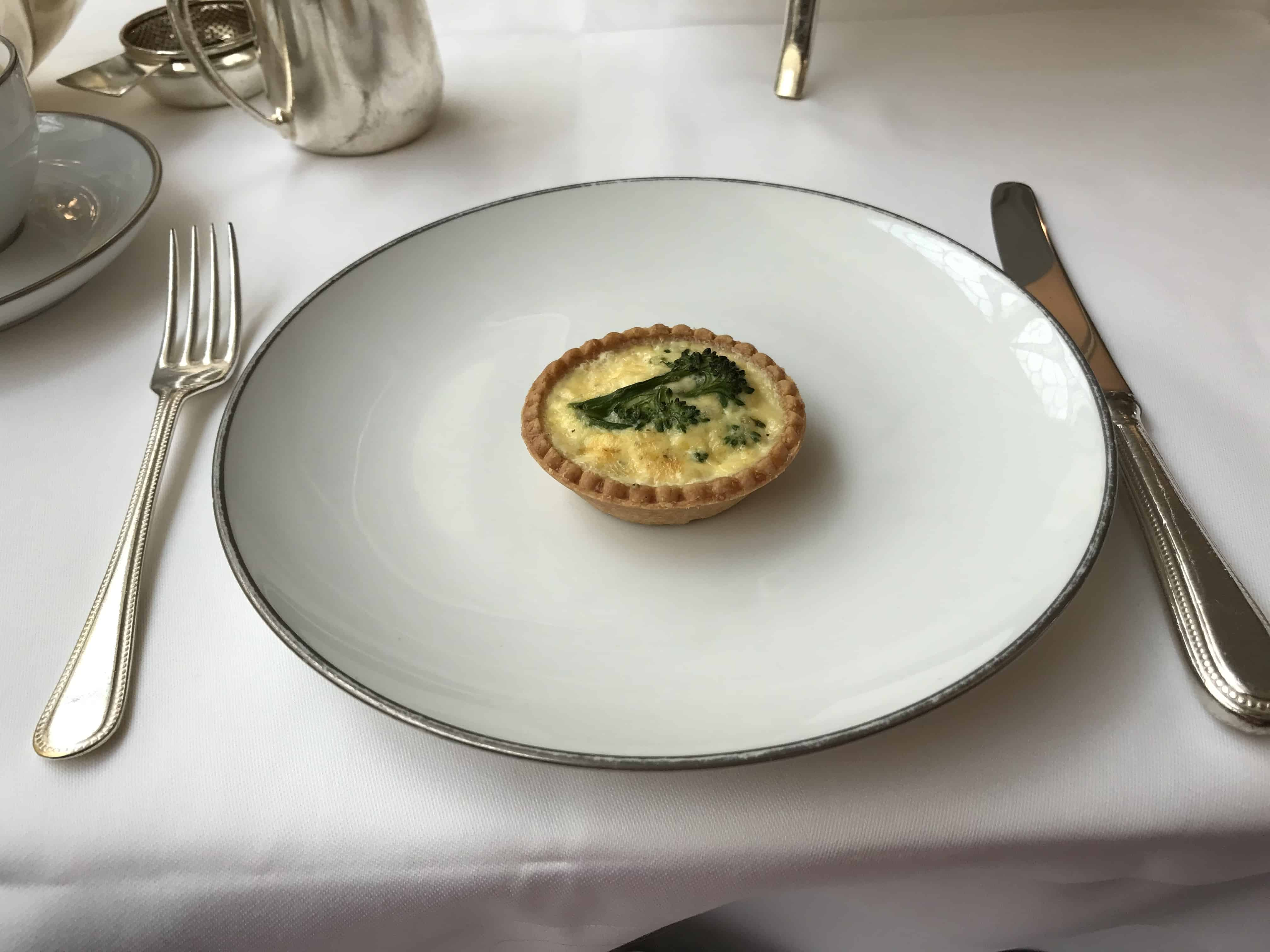 Savory Broccoli Tart Afternoon Tea Harrods Georgian Room