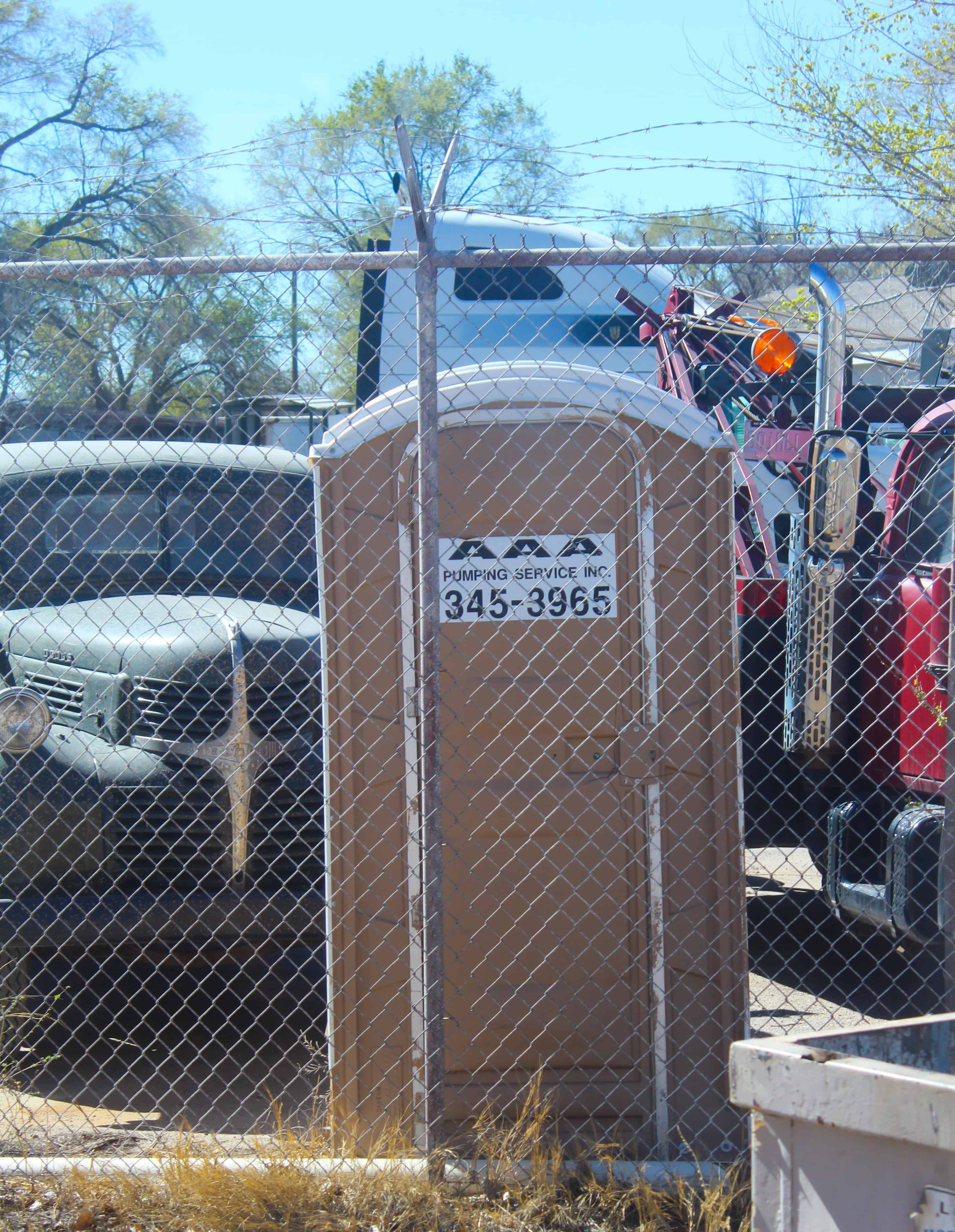 The Infamous Port-a-Potty at the Breaking Bad Junkyard