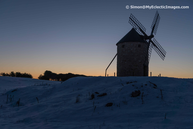 Windmill on the Hilltop Near the Hotel in Belmonte VaughanTown Spain