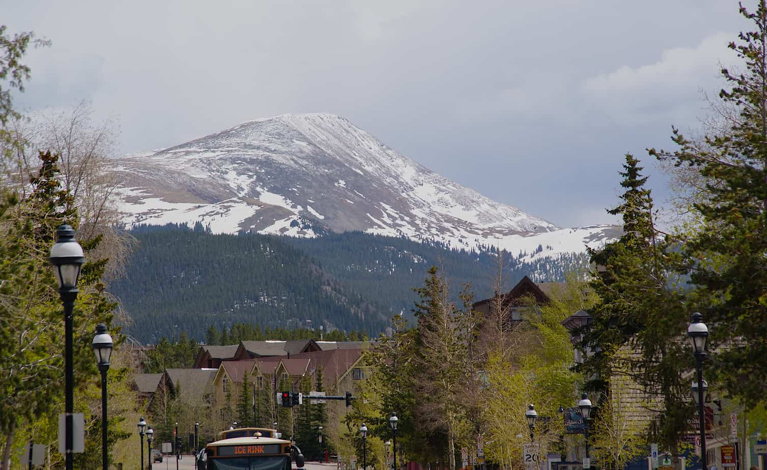 Breckenridge Mountain from Main Street