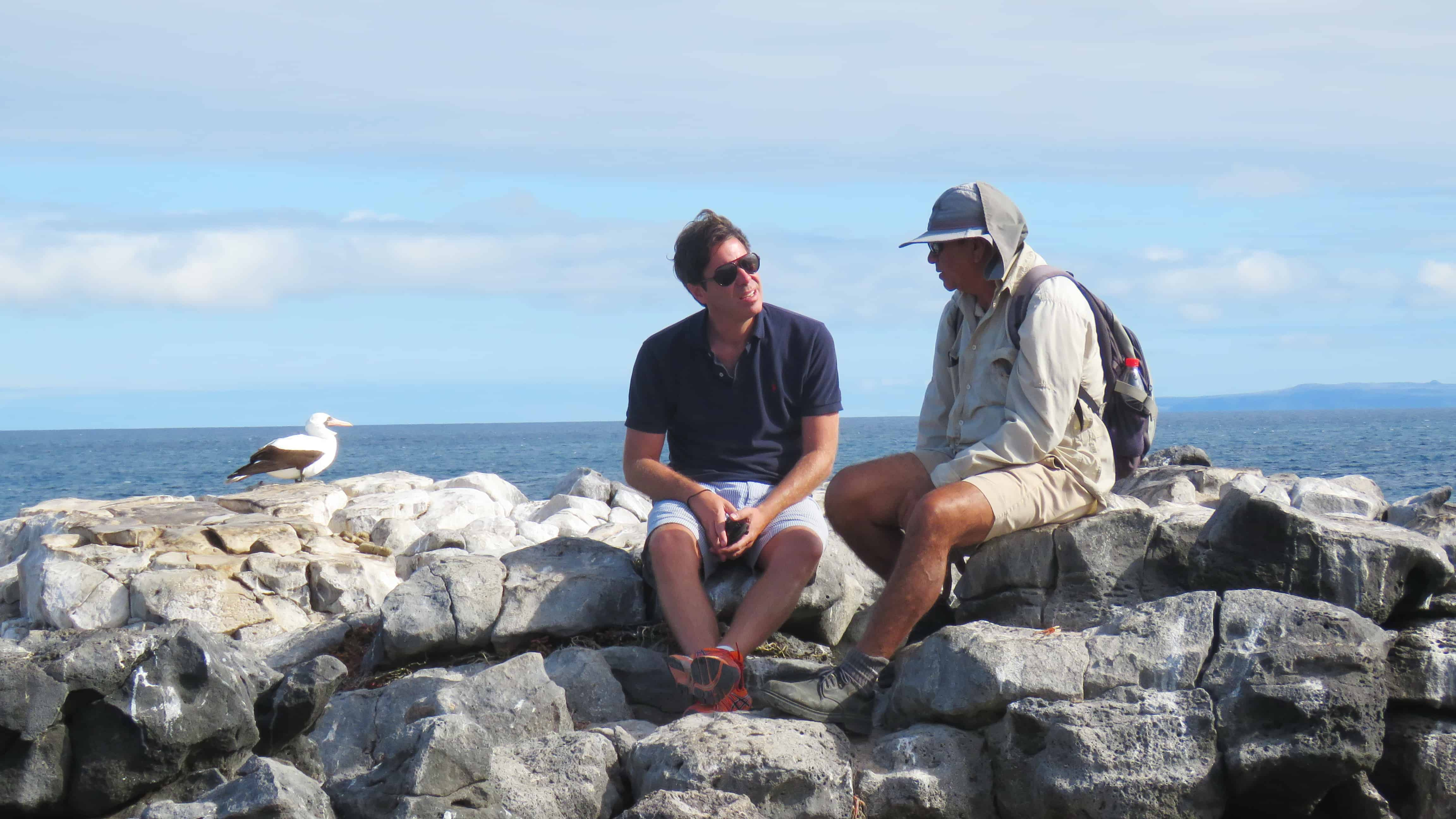 Naturalist and Cruise Guest Exploring the Galapagos Islands